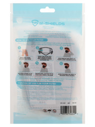 10 PACK DISPOSABLE FILTERS FOR FABRIC MASKS-- GREY