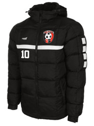 HUB SPARROW WINTER JACKET WITH EMBROIDERED LOGO -NAME-NUMBER -- BLACK WHITE