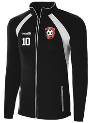 HUB RAVEN TRAINING JACKET WITH EMBROIDERED LOGO - NAME - NUMBER -- BLACK WHITE