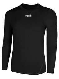 HUB LONG SLEEVES PERFORMANCE TOP - - BLACK