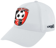 HUB CS II TEAM BASEBALL HAT- -WHITE BLACK