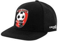 HUB CS II TEAM FLAT BRIM CAP  - BLACK WHITE