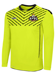 FLASH SPARROW GOLAKEEPER JERSEY W PADDING -- NEON YELLOW BLACK
