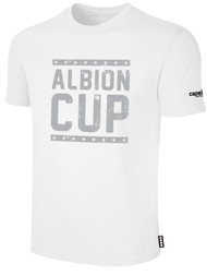 ALBION CUP SHORT SLEEVES COTTON T-SHIRT WITH ALBION CUP LOGO -- WHITE