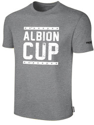 ALBION CUP SHORT SLEEVES COTTON T-SHIRT WITH ALBION CUP LOGO  -- LIGHT HEATHER GREY