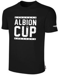 ALBION CUP SHORT SLEEVES COTTON T-SHIRT WITH ALBION CUP LOGO   -- BLACK
