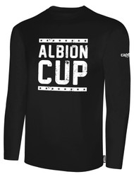ALBION CUP LONG SLEEVES COTTON  T-SHIRT WITH ALBION CUP LOGO  -- BLACK