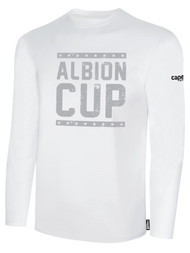ALBION CUP LONG SLEEVES COTTON  T-SHIRT WITH ALBION CUP LOGO  -- WHITE