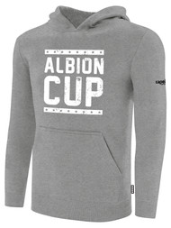 ALBION CUP BASICS FLEECE PULLOVER HOODIE WITH ALBION CUP LOGO -- LIGHT HEATHER GREY