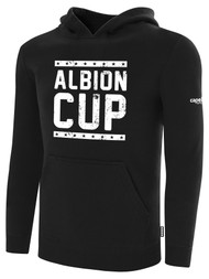 ALBION CUP BASICS FLEECE PULLOVER HOODIE WITH ALBION CUP LOGO -- BLACK