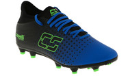 HUNTER SC FUSION FIRM GROUND SOCCER CLEATS -- PROMO BLUE NEON GREEN BLACK