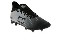 HUNTER SC FUSION FIRM GROUND SOCCER CLEATS -- BLACK SILVER