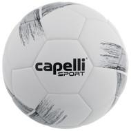 HUNTER SC CAPELLI SPORT TRIBECA STRIKE COMPETITION ELITE, FIFA QUALITY THERMAL BONDED SOCCER BALL-- BLACK METALLIC SILVER
