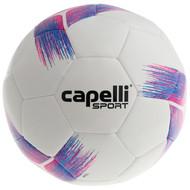 HUNTER SC  CAPELLI SPORT TRIBECA STRIKE TEAM MACHINE STITCHED SOCCER BALL  -- BRIGHT PINK PROMO BLUE