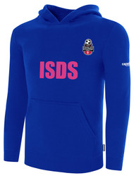 ISDS FLEECE PULLOVER HOODIE ROYAL BLUE WHITE
