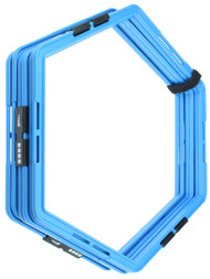 HAWTHORNE FC 6  PCS AGILITY  HEXAGON GRID    --   PROMO BLUE WHITE
