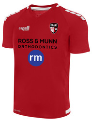 COAST FA UPTOWN V NECK TRAINING TOP RED WHITE