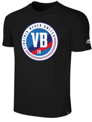 VIRGINIA BEACH COTTON SHORT SLEEVE T-SHIRTS -- BLACK