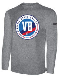 VIRGINIA BEACH COTTON LONG SLEEVE T-SHIRTS -- LIGHT HEATHER GREY