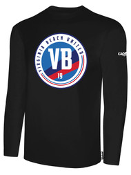 VIRGINIA BEACH COTTON LONG SLEEVE T-SHIRTS -- BLACK