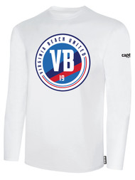 VIRGINIA BEACH COTTON LONG SLEEVE T-SHIRTS -- WHITE