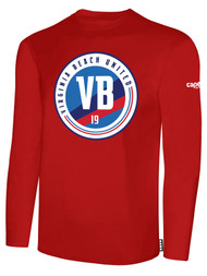 VIRGINIA BEACH COTTON LONG SLEEVE T-SHIRTS -- RED