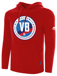 VIRGINIA BEACH ZIP UP HOODIE  -- RED