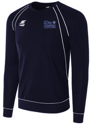 HCI PRO RAVEN LONG SLEEVE SWEAT TOP $35-40 -- NAVY WHITE