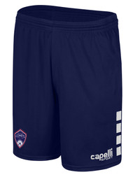 ARKANSAS COMETS CS ONE MATCH SHORTS NAVY WHITE