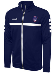 ARKANSAS COMETS FULL ZIP SPARROW TRAINING JACKET NAVY WHITE