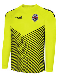 NEMESIS SA MADISON STATIC LONG SLEEVE GOALKEEPER JERSEY W/ PADDING -- NEON YELLOW BLACK
