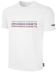 ARKANSAS COMETS BASICS SHORT SLEEVE TEE-SHIRT WHITE BLACK