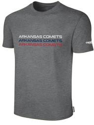 ARKANSAS COMETS BASICS SHORT SLEEVE TEE-SHIRT DARKHEATHERGREY WHITE