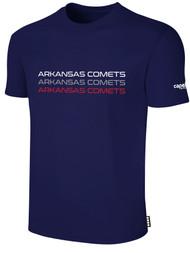 ARKANSAS COMETS BASICS SHORT SLEEVE TEE-SHIRT NAVY WHITE