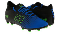 ARKANSAS CAPELLI SPORT FUSION YOUTH FIRM GROUND SOCCER CLEATS PROMO BLUE NEON GREEN BLACK