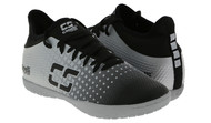 ARKANSAS CAPELLI SPORT FUSION YOUTH INDOOR SOCCER SHOES BLACK/SILVER