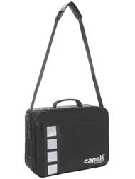 COAST FA 4 CUBE PRO MEDICAL BAG WITH INSIDE POCKETS & VELCRO STARPS --  BLACK SILVER