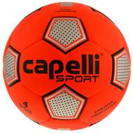 ARKANSAS COMETS CAPELLI SPORT ASTOR FUTSAL COMPETITION ELITE SUPER HYBRID SOCCER BALL NEON ORANGE/BLACK