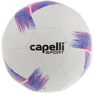 COAST FA  CAPELLI SPORT TRIBECA STRIKE TEAM MACHINE STITCHED SOCCER BALL  -- BRIGHT PINK PROMO BLUE