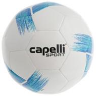 COAST FA  CAPELLI SPORT TRIBECA STRIKE TEAM  MACHINE STITCHED SOCCER BALL -- PROMO BLUE TURQUOISE