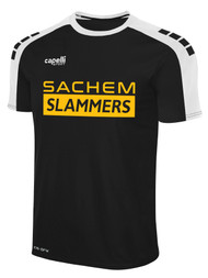 SACHEM SLAMMERS SOHO SHORT SLEEVE AWAY MATCH JERSEY BLACK WHITE