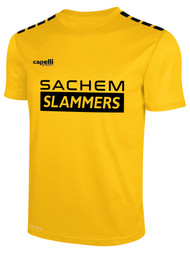SACHEM SLAMMERS CS ONE    SHORT SLEEVE HOME MATCH JERSEY GOLD BLACK