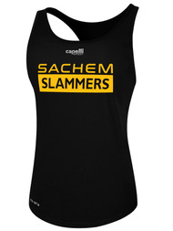 SACHEM SLAMMERS WOMEN'S BASIC RACER BACK TANK BLACK