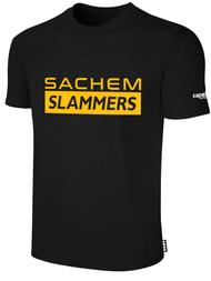 SACHEM SLAMMERS BASICS SHORT SLEEVE TEE-SHIRT BLACK WHITE