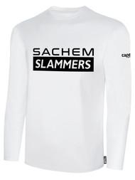 SACHEM SLAMMERS LONG SLEEVE COTTON TEE SHIRT WHITE BLACK