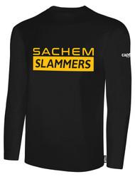SACHEM SLAMMERS LONG SLEEVE COTTON TEE SHIRT BLACK WHITE