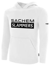 SACHEM SLAMMERS FLEECE PULLOVER HOODIE WHITE BLACK
