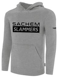 SACHEM SLAMMERS FLEECE PULLOVER HOODIE LIGHT HEATHERGREY