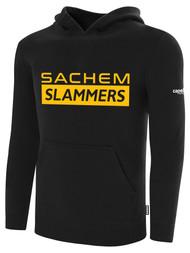 SACHEM SLAMMERS FLEECE PULLOVER HOODIE BLACK WHITE