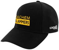SACHEM SLAMMERS CS II TEAM BASEBALL CAP BLACK WHITE